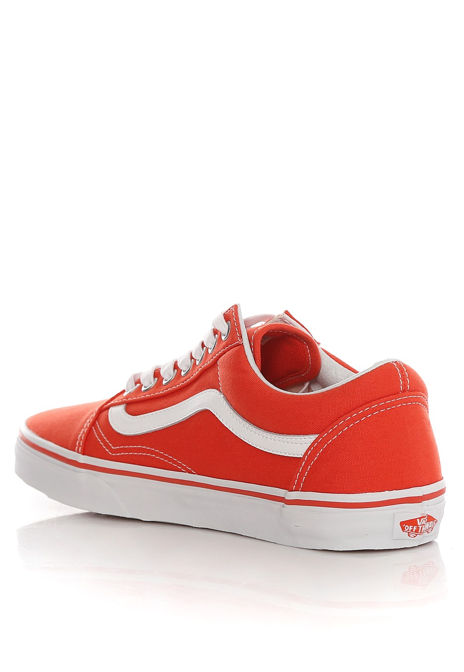 vans old skool canvas cherry tomato true white shoes. Black Bedroom Furniture Sets. Home Design Ideas