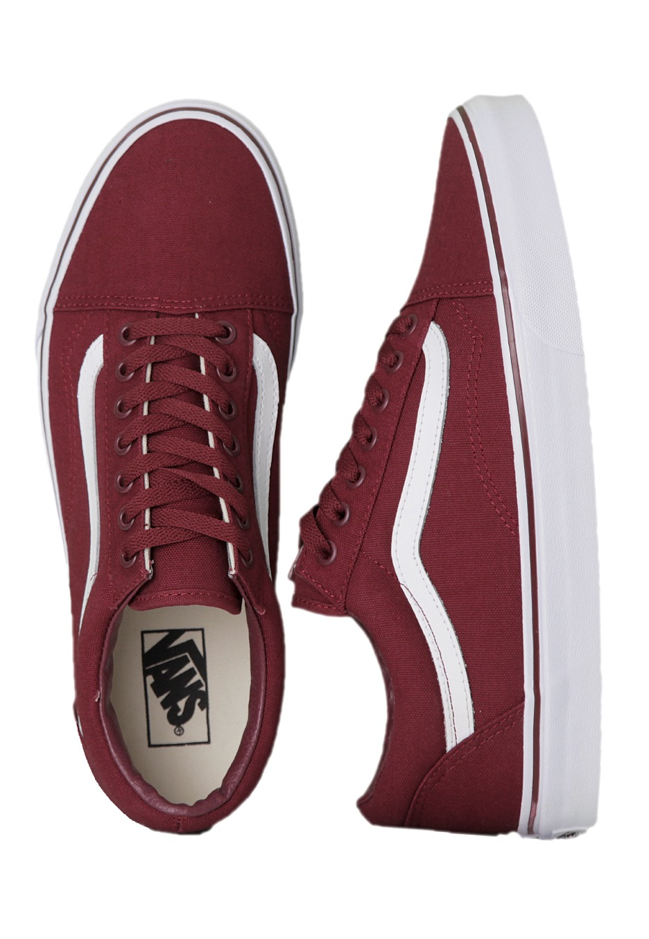 ff5b77e735 Vans - Old Skool Canvas Cordovan True White - Shoes - Impericon.com US