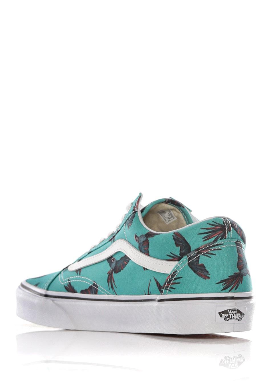 ... Vans - Old Skool Dirty Bird Turquoise True White - Girl Shoes ... 9ec9c5701