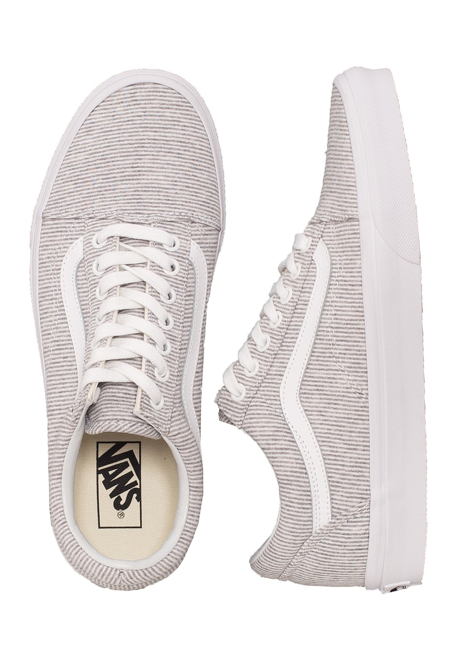 de067277ef Vans - Old Skool Jersey Gray True white - Girl Shoes - Impericon.com US
