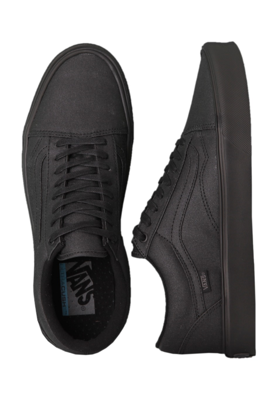 53a3986012 Vans - Old Skool Lite Black Waxed Canvas - Girl Shoes - Impericon.com UK