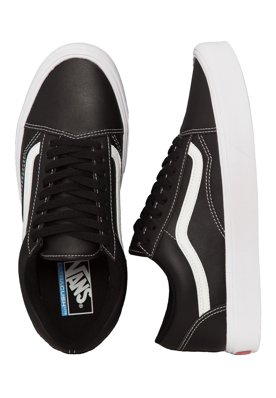 b1df1301f4 Vans - Old Skool Lite Classic Tumble Black True White - Shoes -  Impericon.com UK
