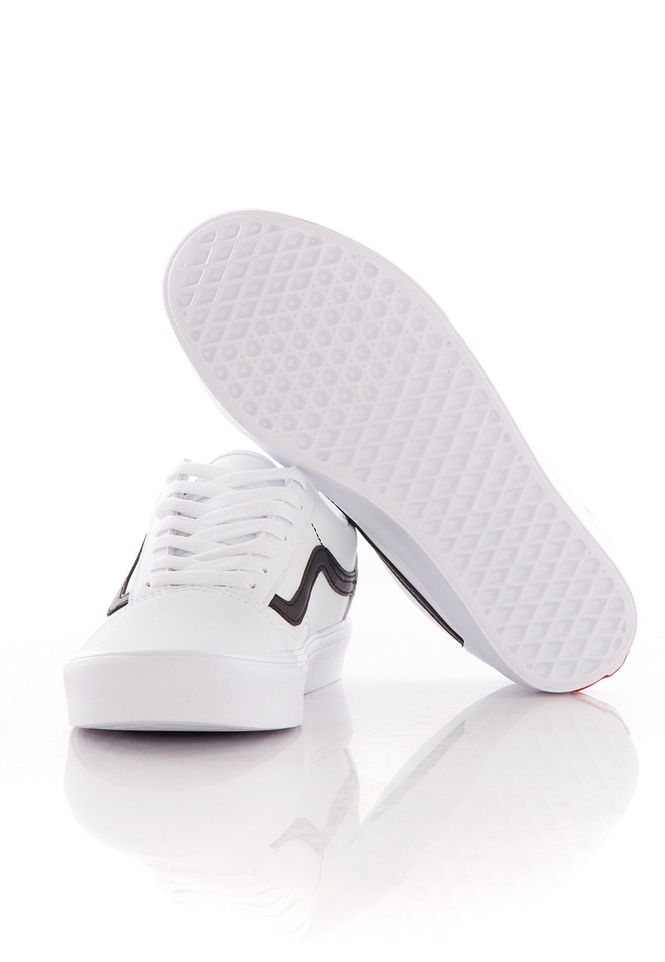 bf7bb75254 ... Vans - Old Skool Lite Classic Tumble True White Black - Shoes ...