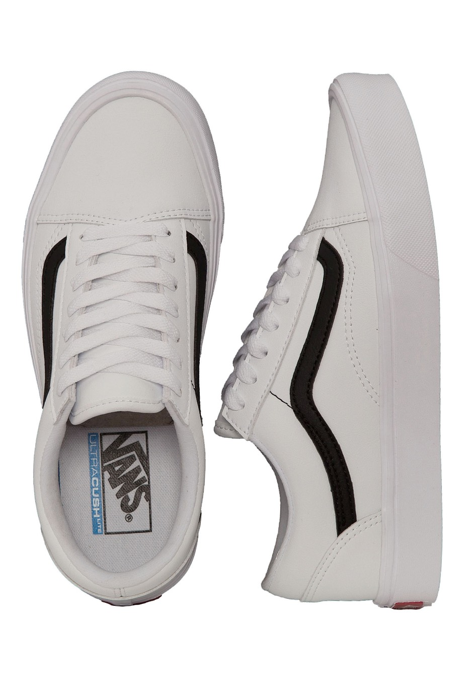 6c8c7cf90ce3 Vans - Old Skool Lite Classic Tumble True White Black - Shoes -  Impericon.com Worldwide