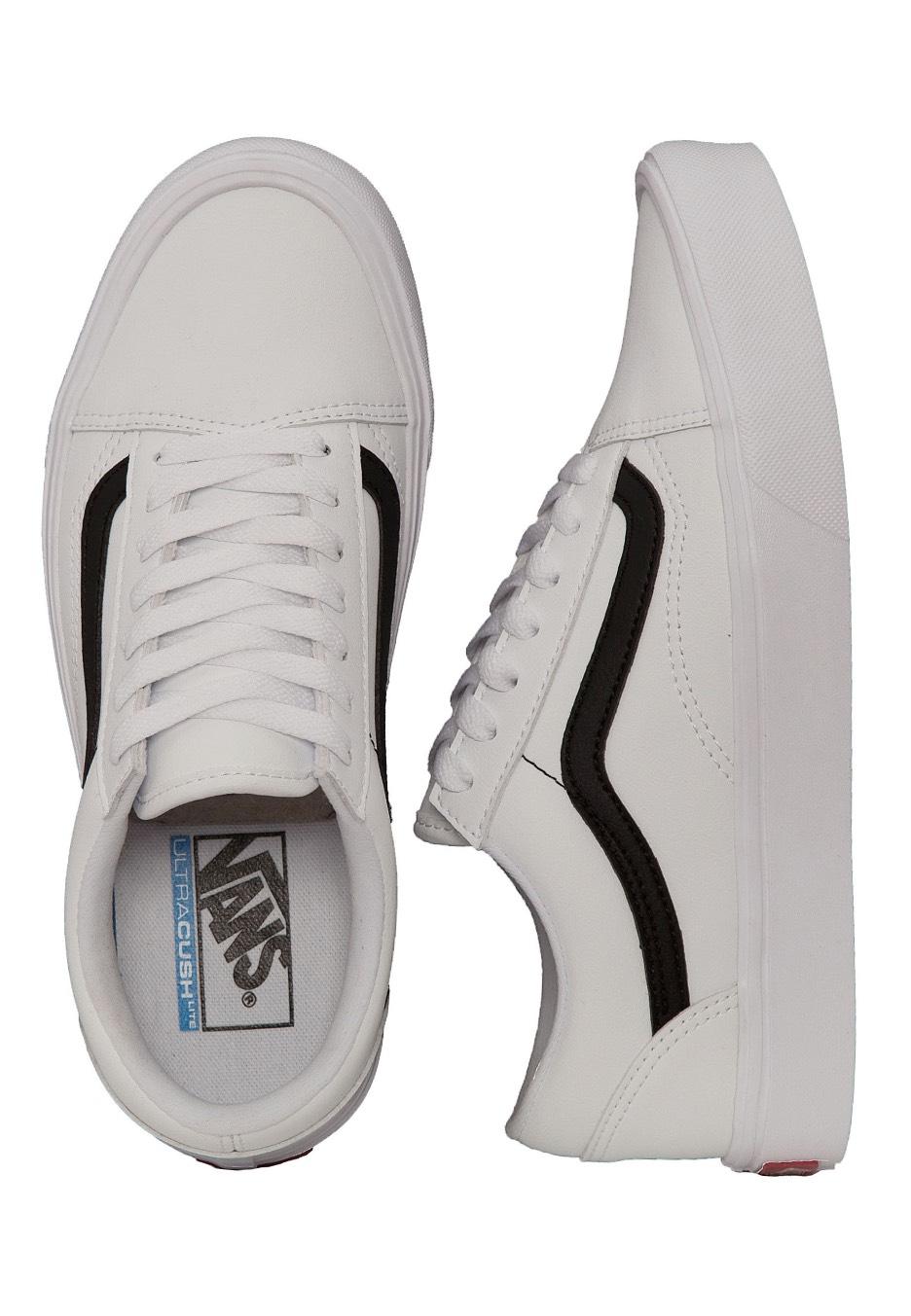 Vans Old Skool Lite Classic Tumble True WhiteBlack Girl Schuhe