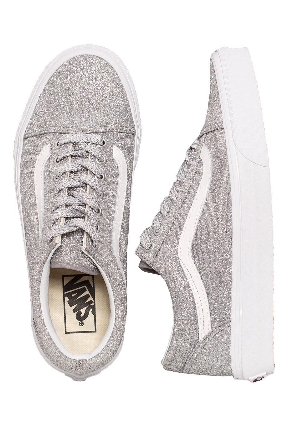 Vans - Old Skool Lurex Glitter Silver True White - Girl Shoes -  Impericon.com UK 93339d701