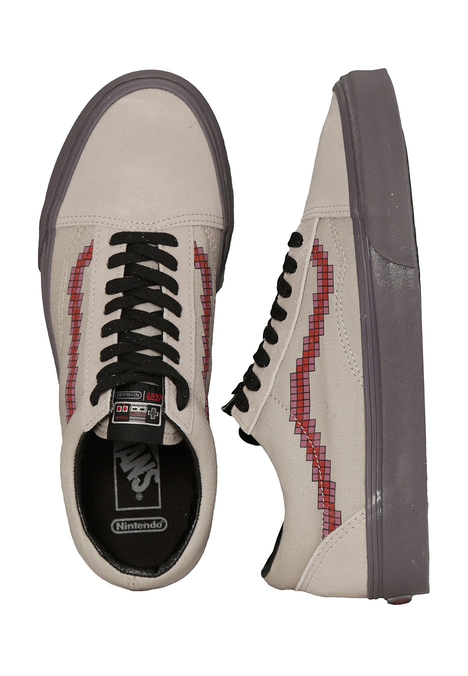Vans X Nintendo - Old Skool Nintendo Console Dove - Shoes - Impericon.com  Worldwide d3ef345fdb330