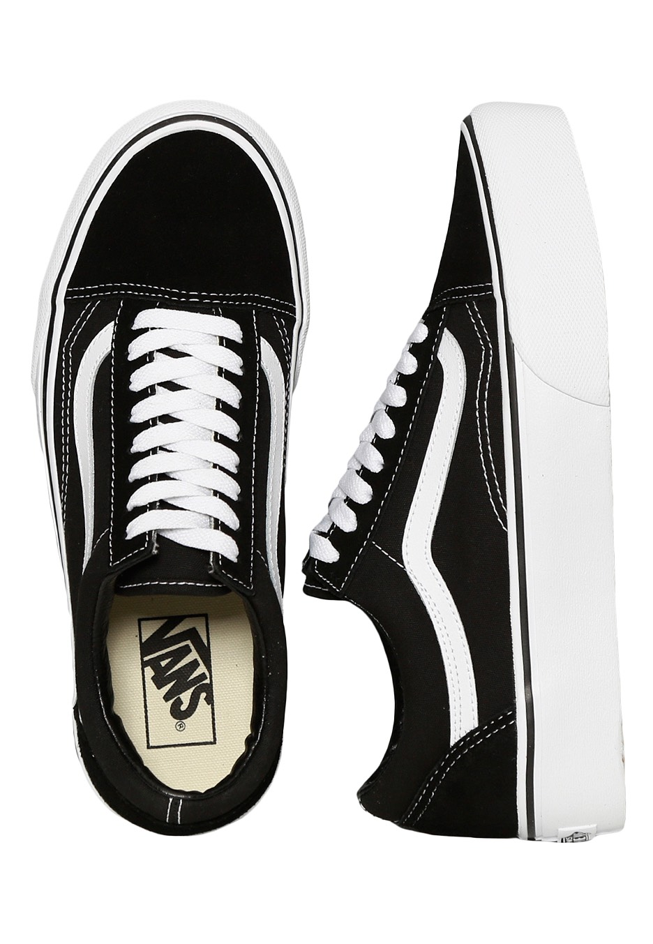 dc4c42e14fef Vans - Old Skool Platform Black White - Girl Shoes - Impericon.com UK