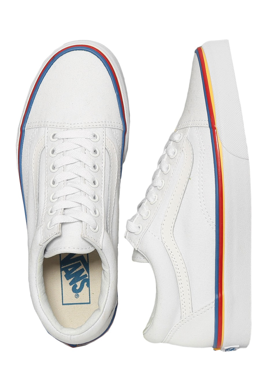 f2d2d9aba0 Vans - Old Skool Rainbow Foxing True White - Girl Schuhe - Impericon ...