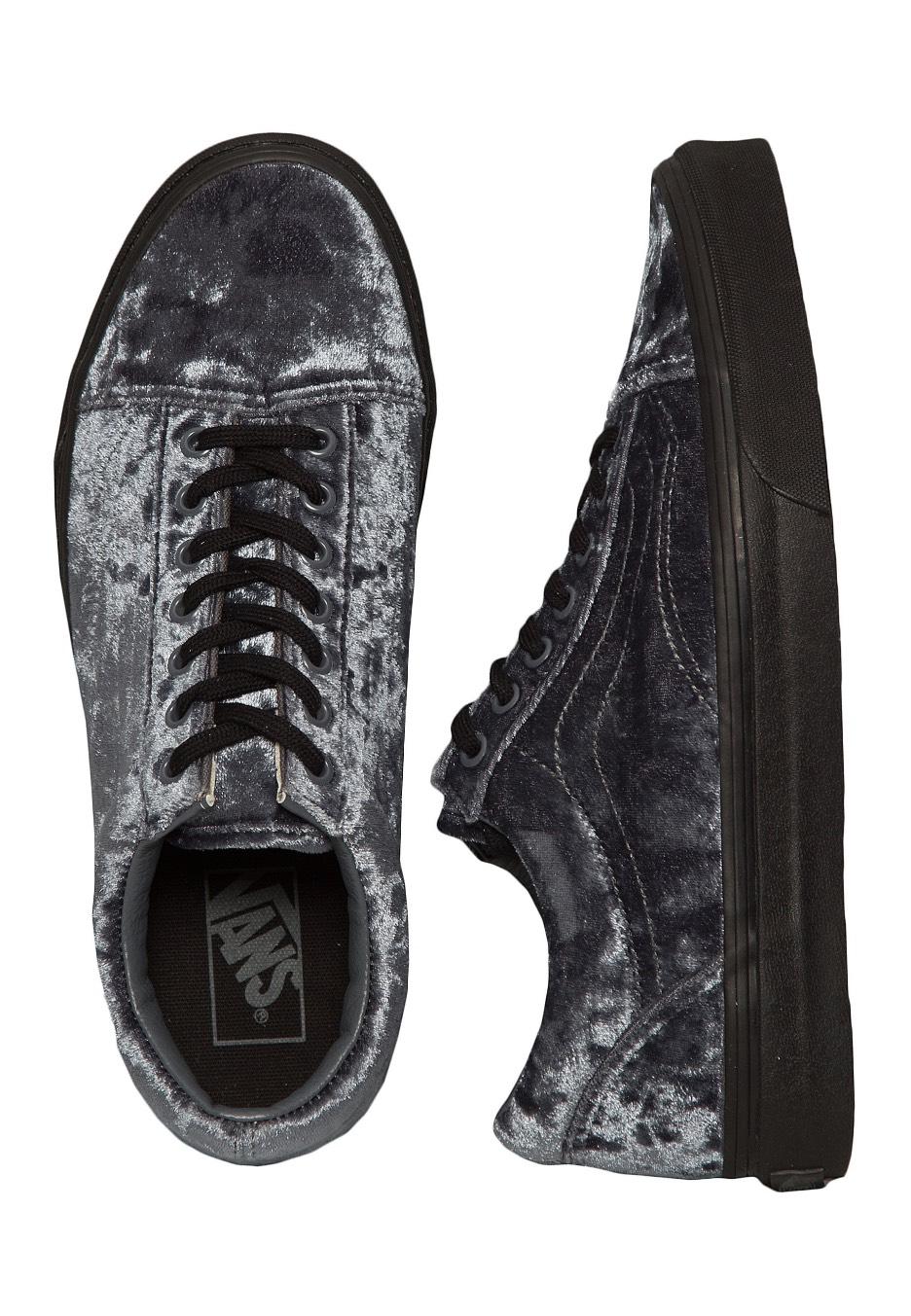 5db7b14d90 Vans - Old Skool Velvet Grey Black - Girl Shoes - Impericon.com UK