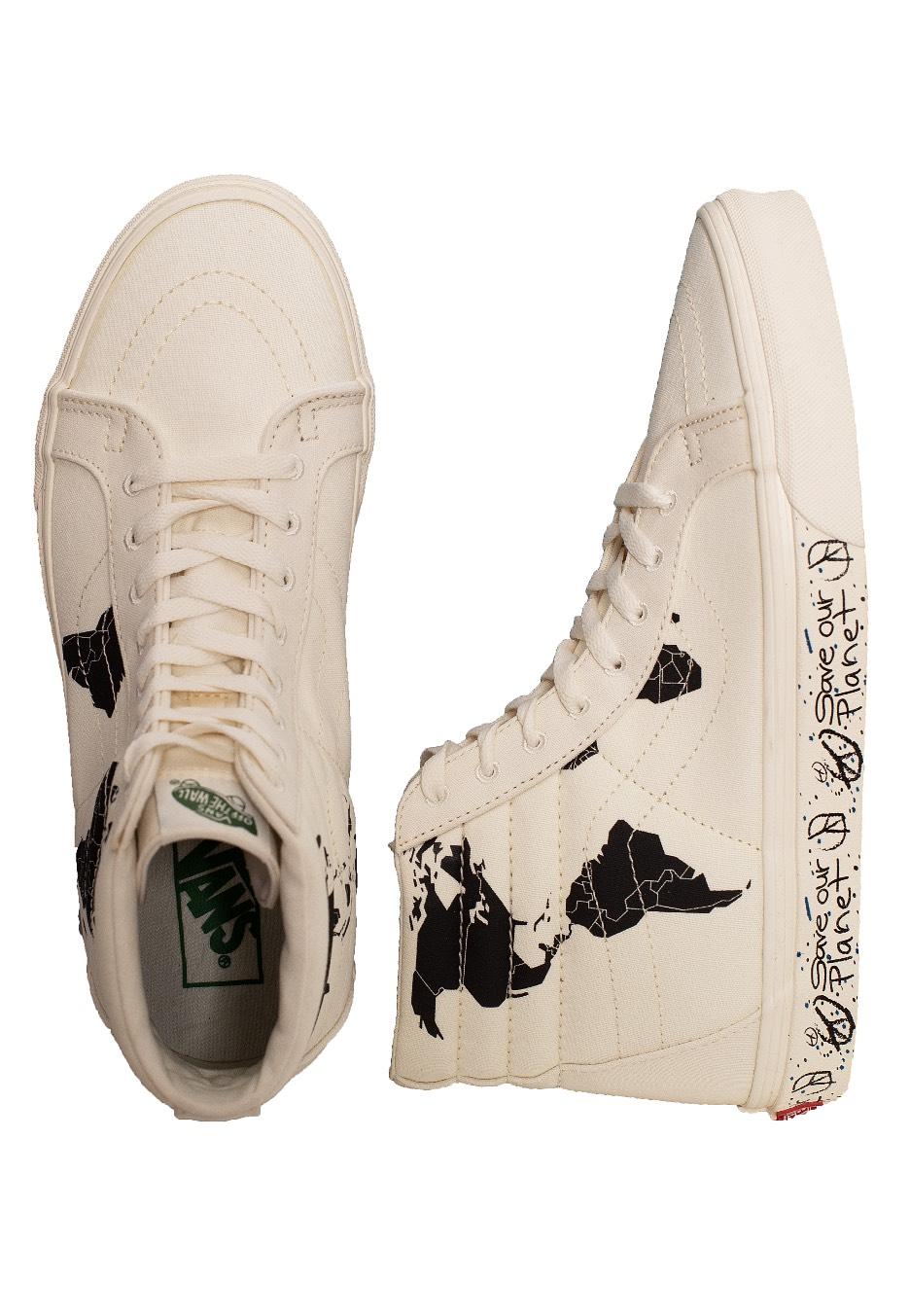 Vans Sk8 Hi Reissue Save Our Planet Classic WhiteBlack Chaussures