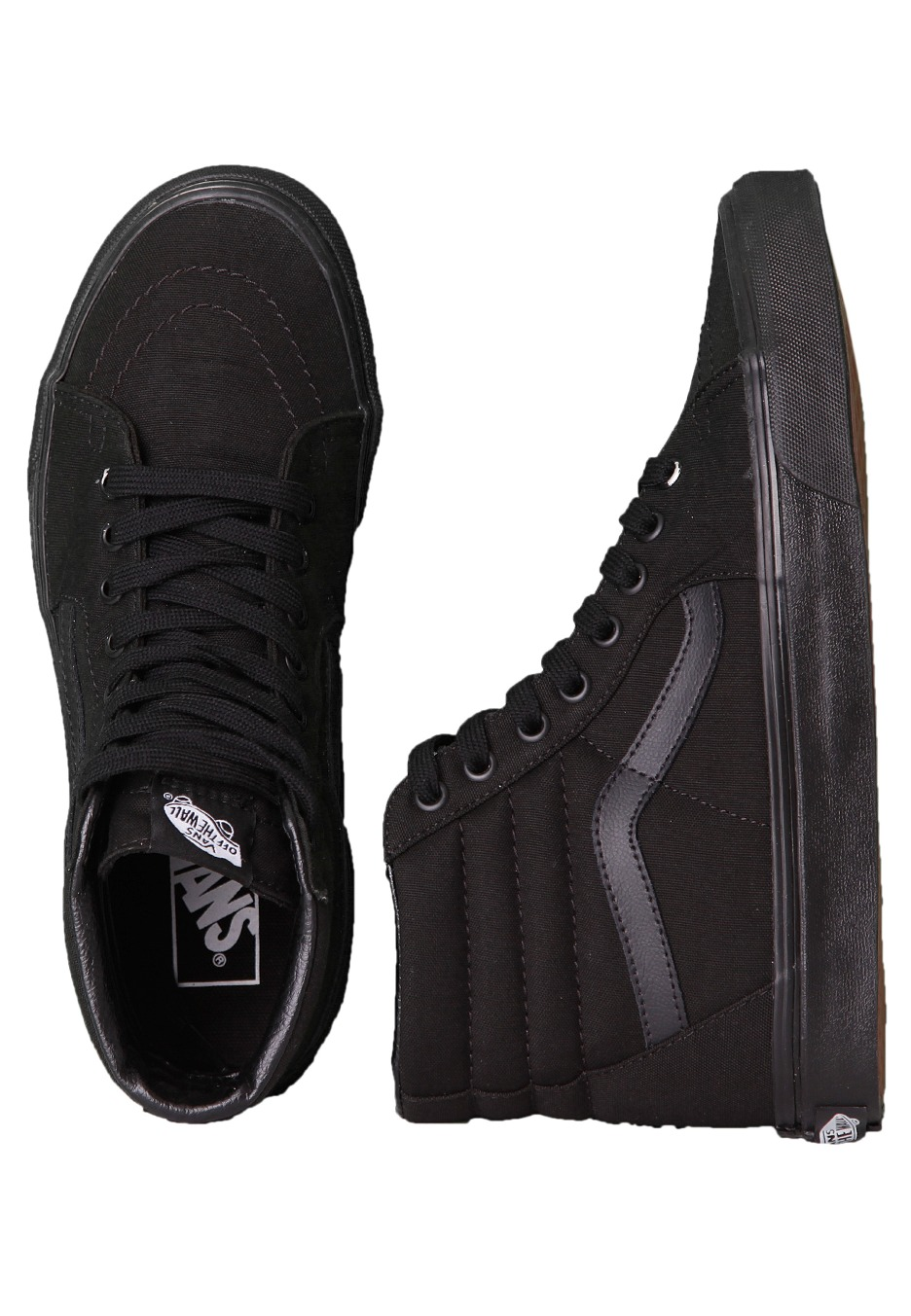 vans all black high tops
