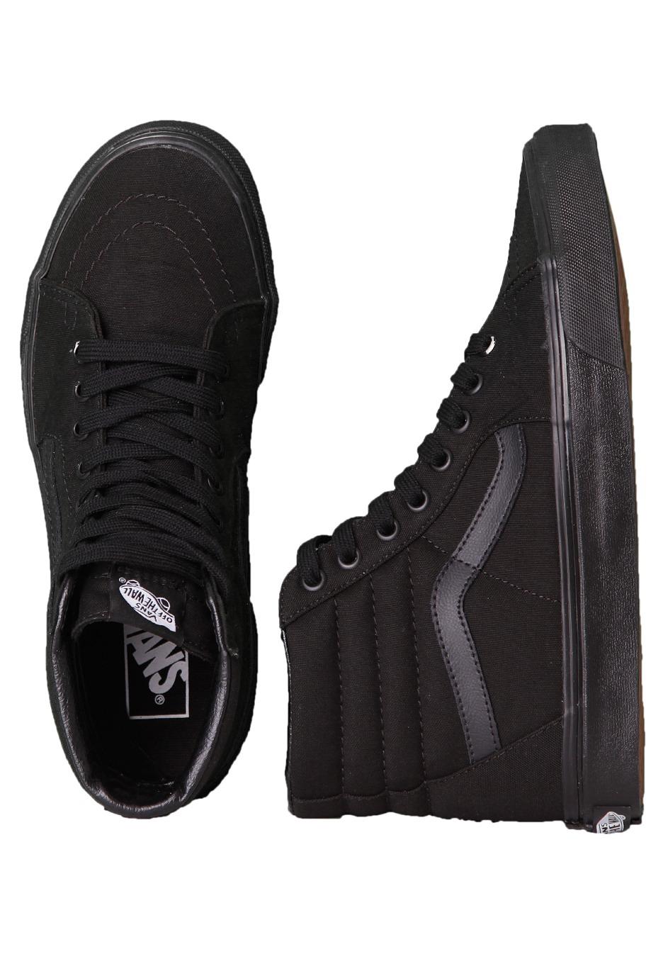 vans high top all black