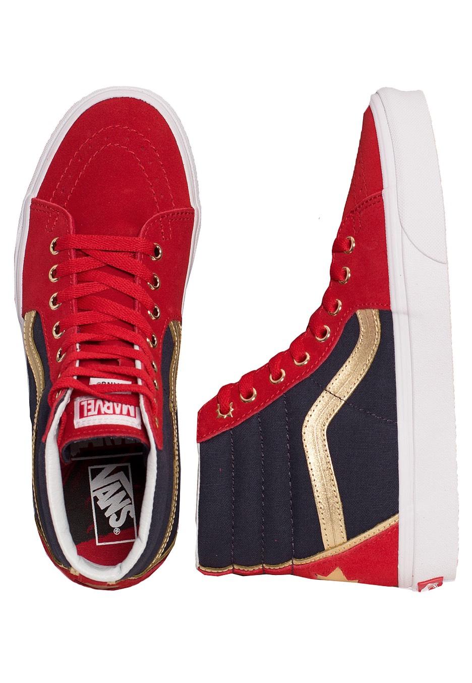 3eff558fba Vans x Marvel - SK8-Hi Marvel Captain Marvel - Girl Shoes - Impericon.com US