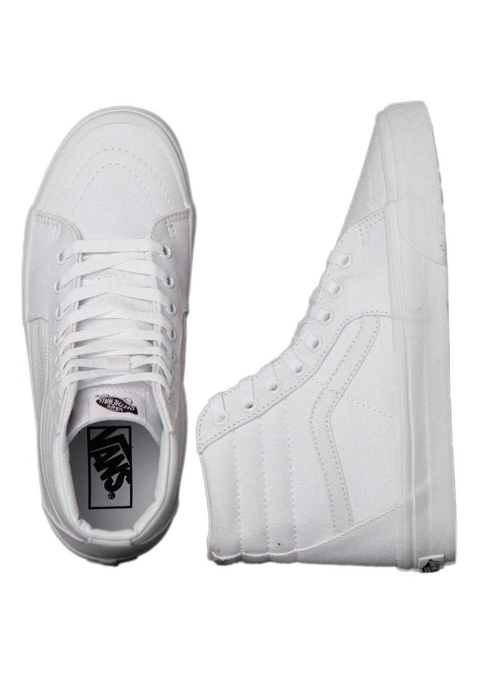 vans sk8hi true white