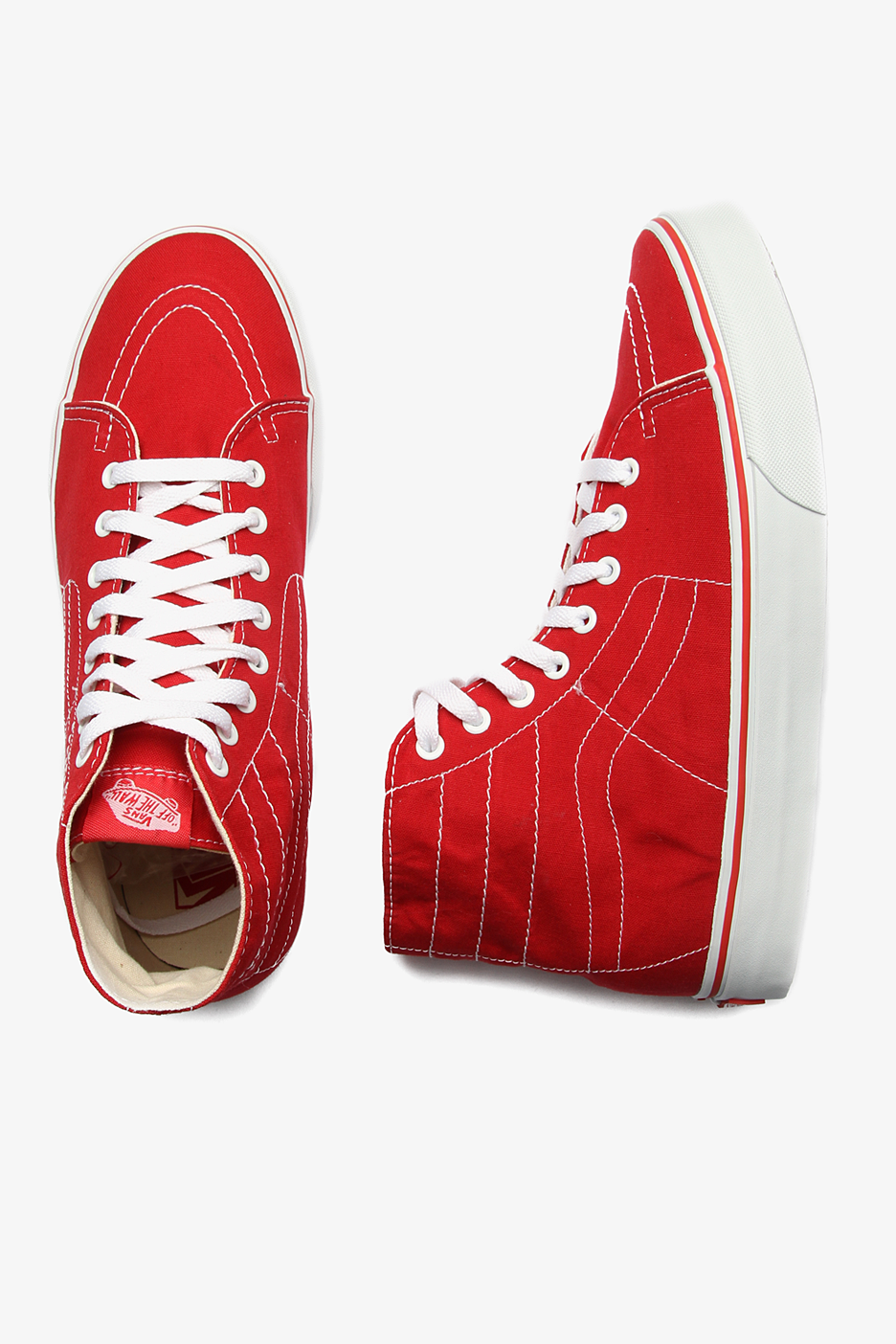 Vans - SK8 Hi Deconstruct Red White - Shoes - Impericon.com Worldwide 8fa94ccf0