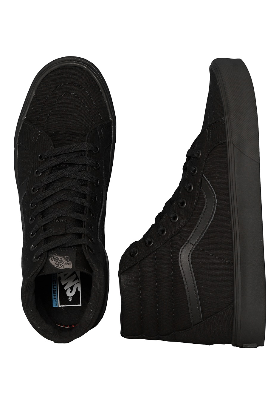50f27755ce7da7 Vans - Sk8-Hi Lite + Canvas Black Black - Girl Shoes - Impericon.com UK