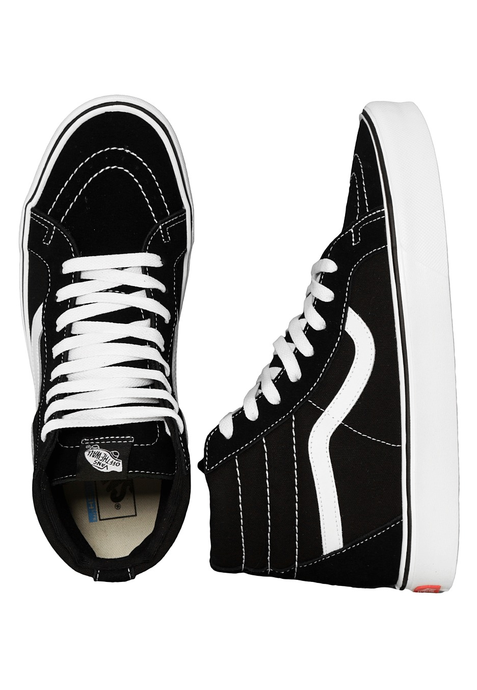 4bf44700c6b Vans - Sk8-Hi Lite + Suede Canvas Black White - Girl Shoes - Impericon.com  UK