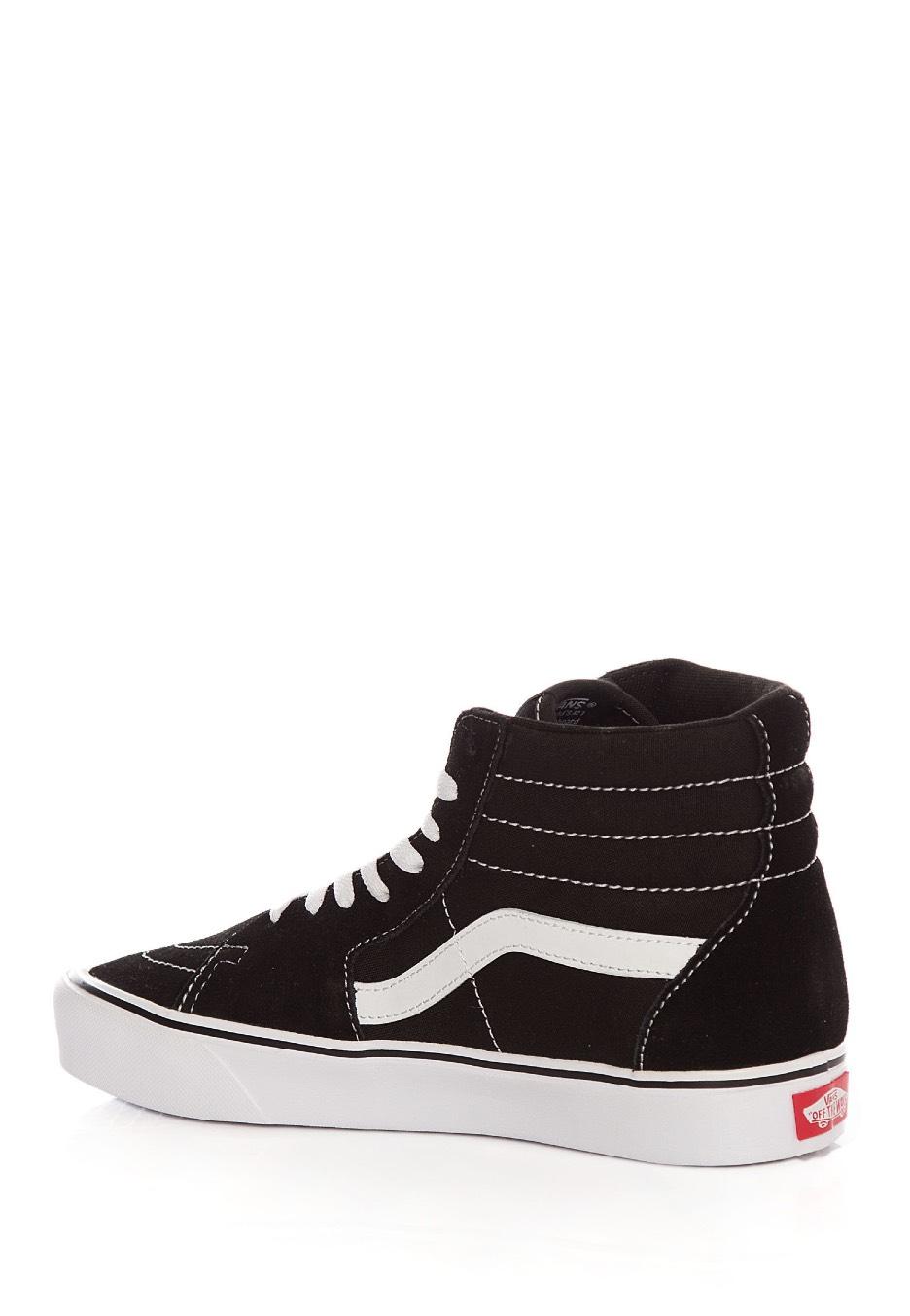 4cb61fe281 Vans - Sk8‐Hi Lite Suede Canvas Black White - Női cipők - Impericon ...