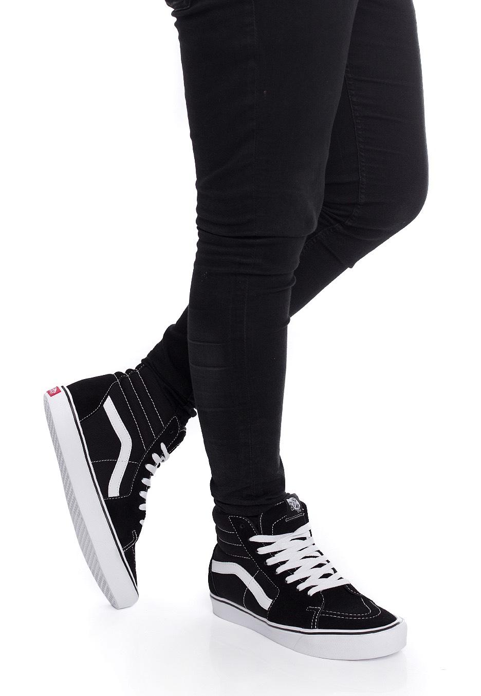 f6c71f7922 Vans - Sk8‐Hi Lite Suede Canvas Black White - Schuhe - Impericon.com DE
