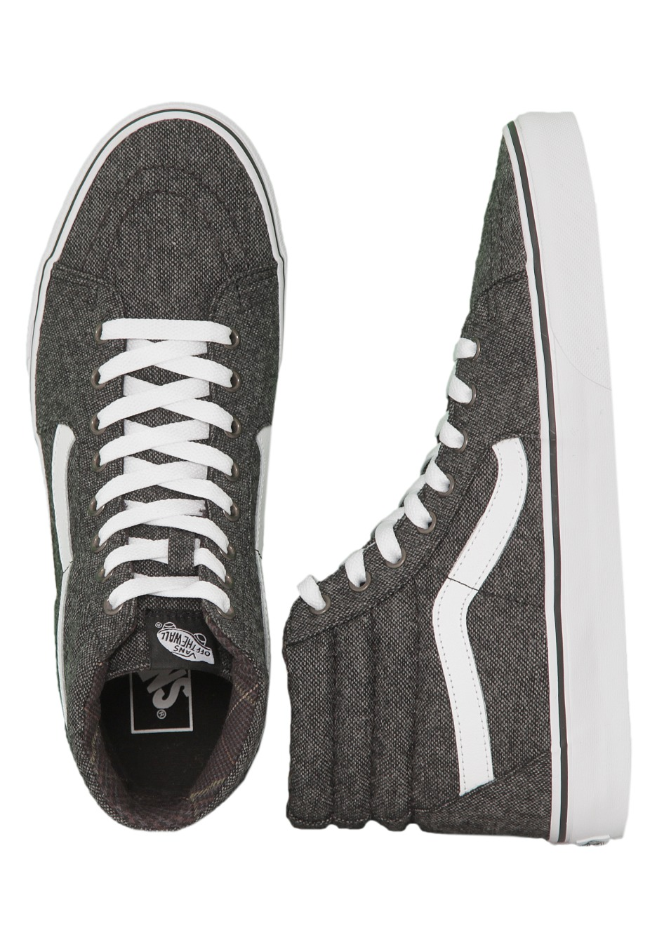 d2b0872e4a24e5 Vans - Sk8-Hi Reissue Tweed Black True White - Shoes - Impericon.com UK