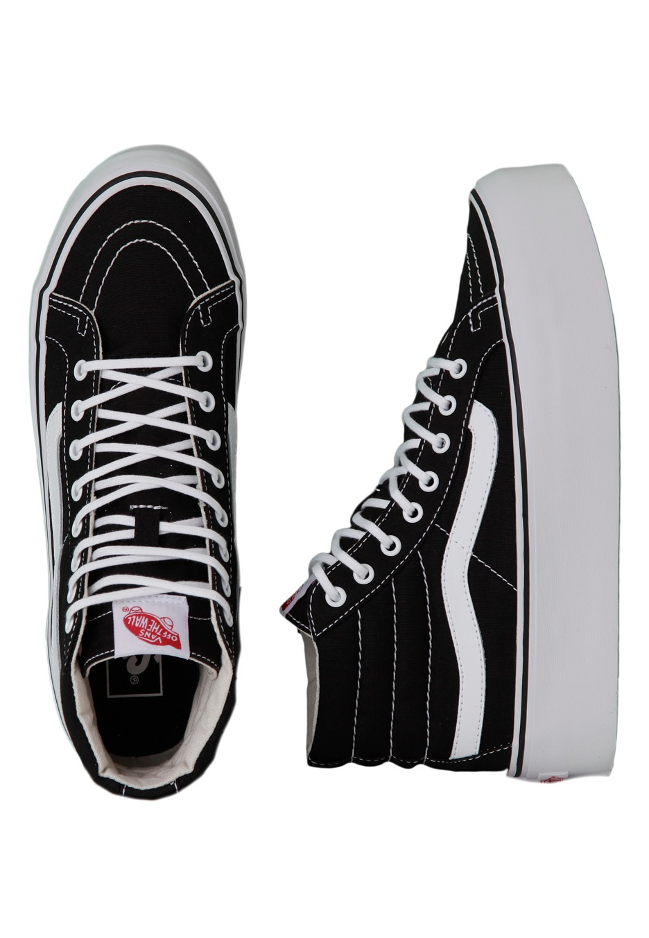 Vans - Sk8-Hi Platform Canvas Black True - Girl Shoes - Impericon.com UK 38501feabcb