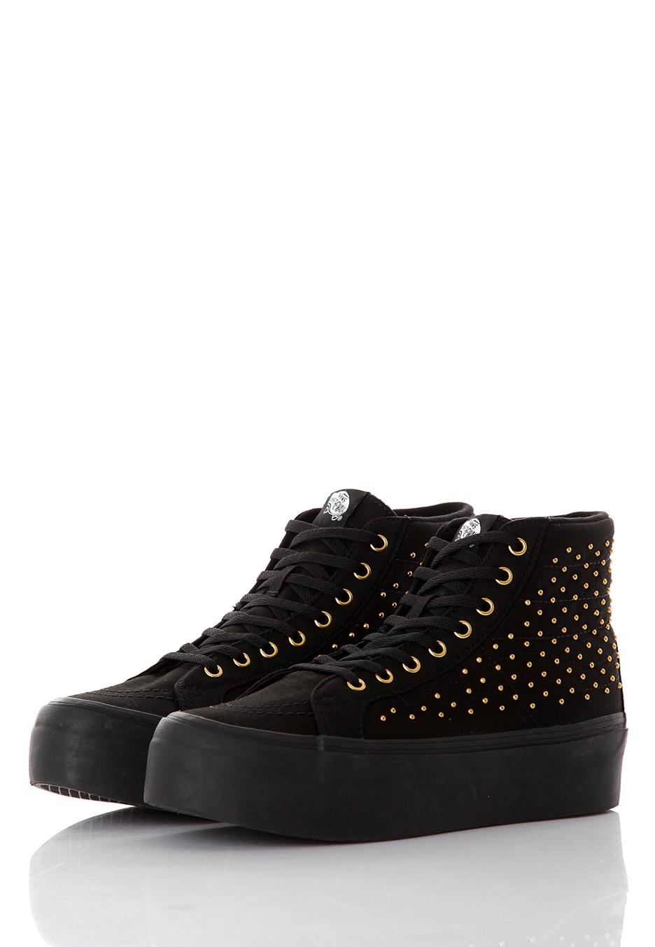 Vans Sk Hi Platform Shoes Black True White
