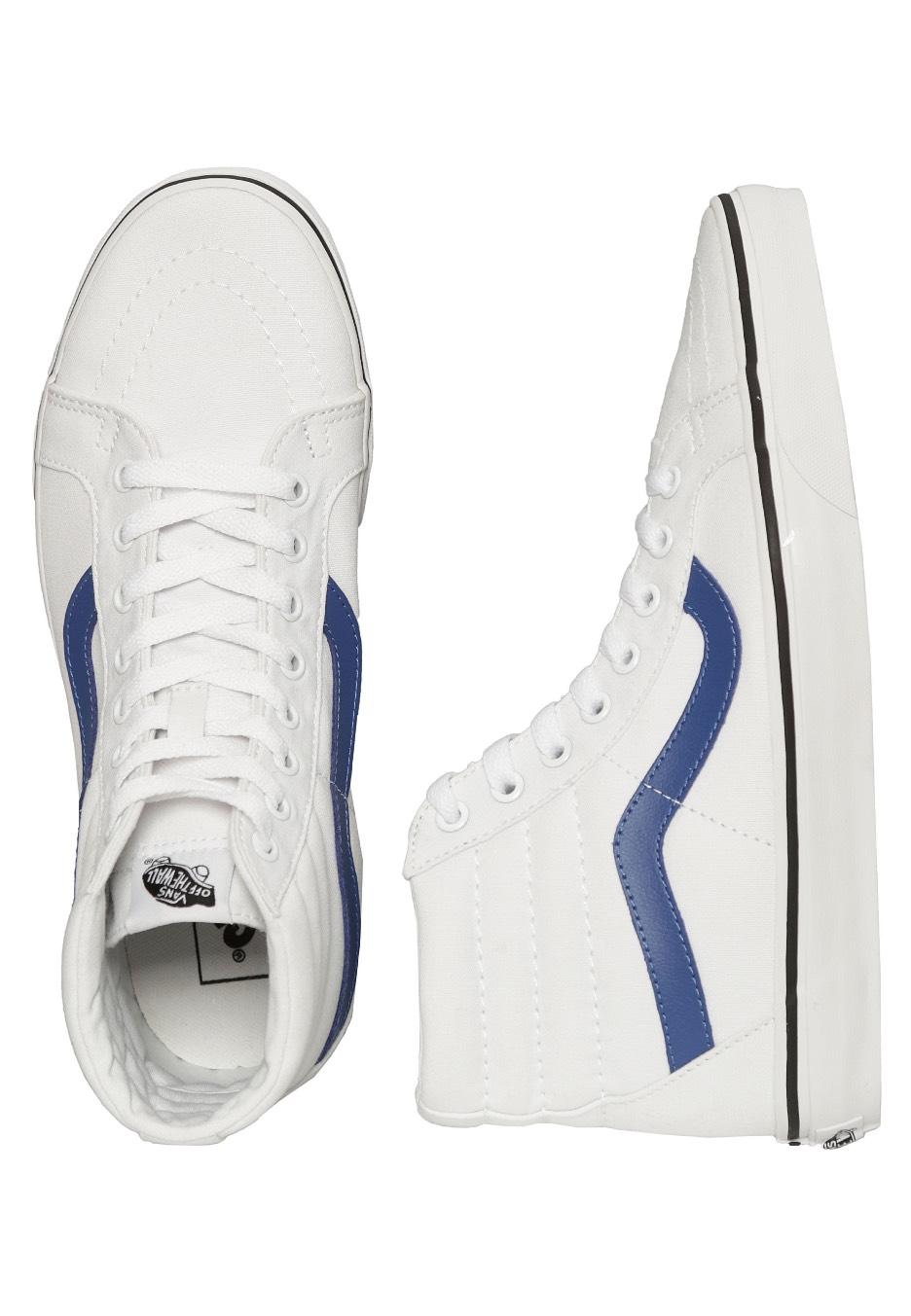 fb091c57e6 Vans - Sk8-Hi Reissue Canvas True White True Blue - Shoes - Impericon.com UK
