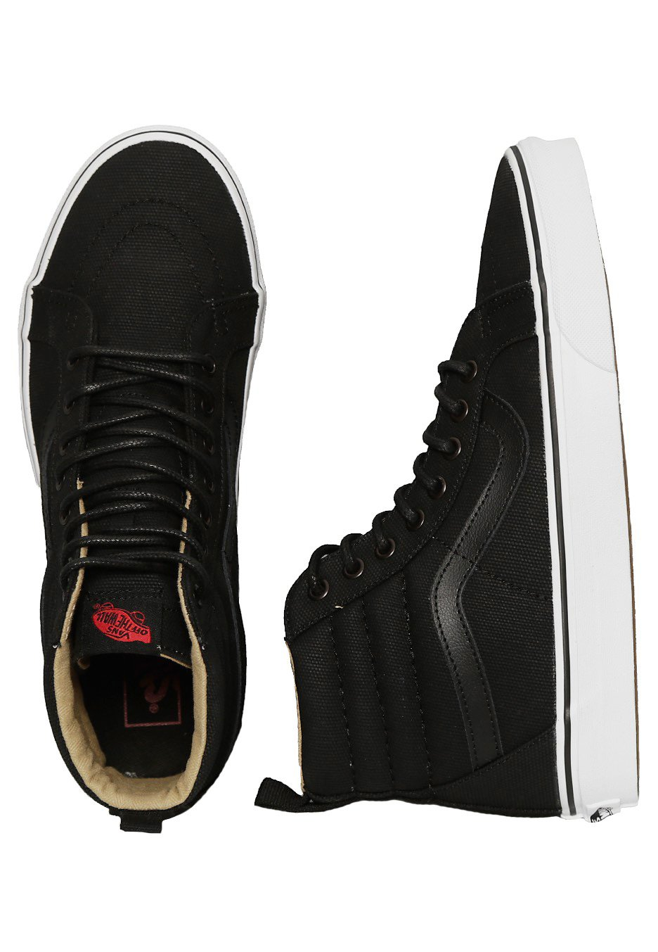 c4786ffcaa Vans - Sk8-Hi Reissue PT Military Twill Black True White - Girl Shoes -  Impericon.com UK