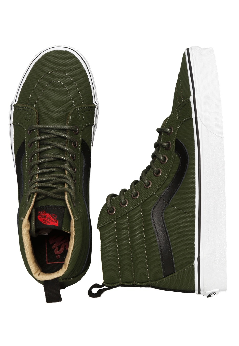 1f0692cecc7 Vans - Sk8-Hi Reissue PT Military Twill Rifle Green True White - Girl Shoes  - Impericon.com UK