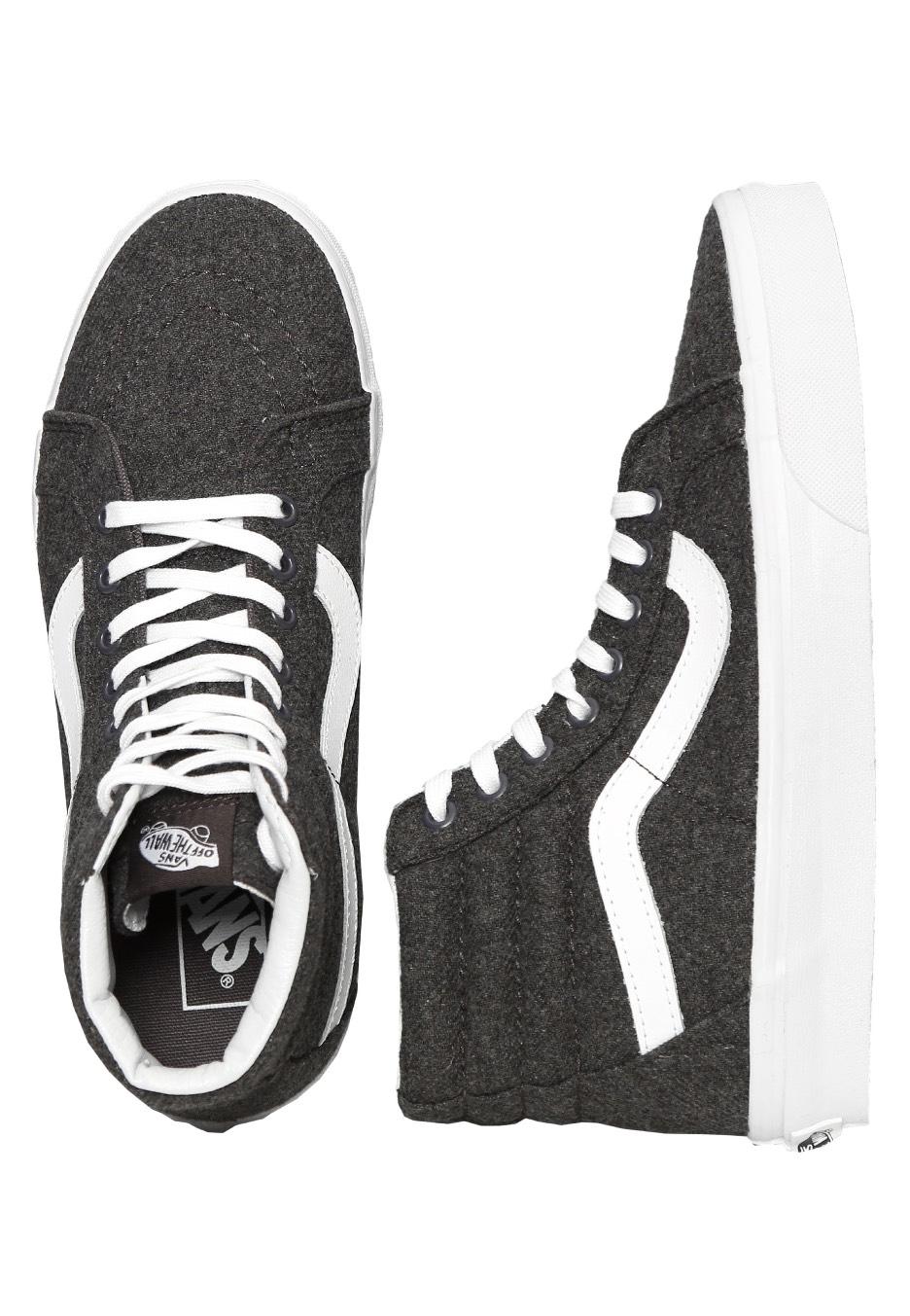 e0c6430b9475 Vans - Sk8-Hi Reissue Varsity Charcoal True White - Girl Shoes - Impericon.com  UK