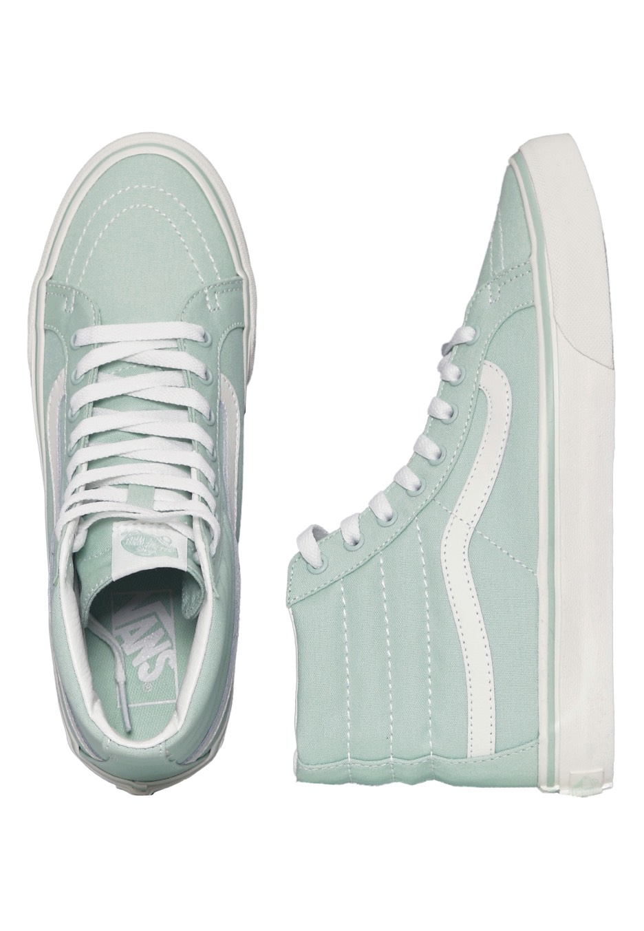 51e5d4cce6 Vans - Sk8-Hi Slim Gossamer Green Blanc De Blanc - Girl Shoes -  Impericon.com Worldwide