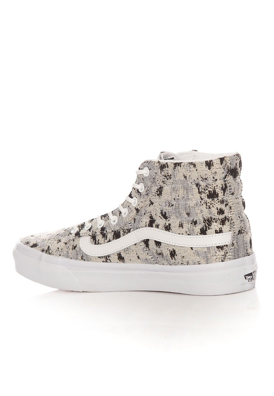3c2a31db40 ... Vans - SK8‐Hi Slim Italian Weave Abstract True White - Girl Shoes ...