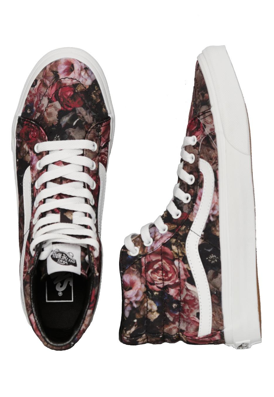 vans sk8 high floral