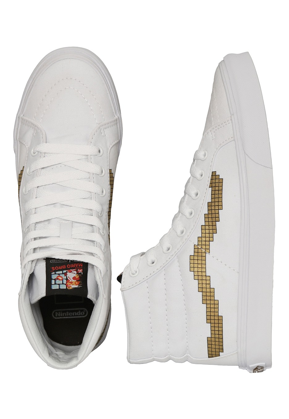 9af4bf576b392b Vans X Nintendo - Sk8-Hi Slim Nintendo Console Gold - Girl Shoes -  Impericon.com Worldwide