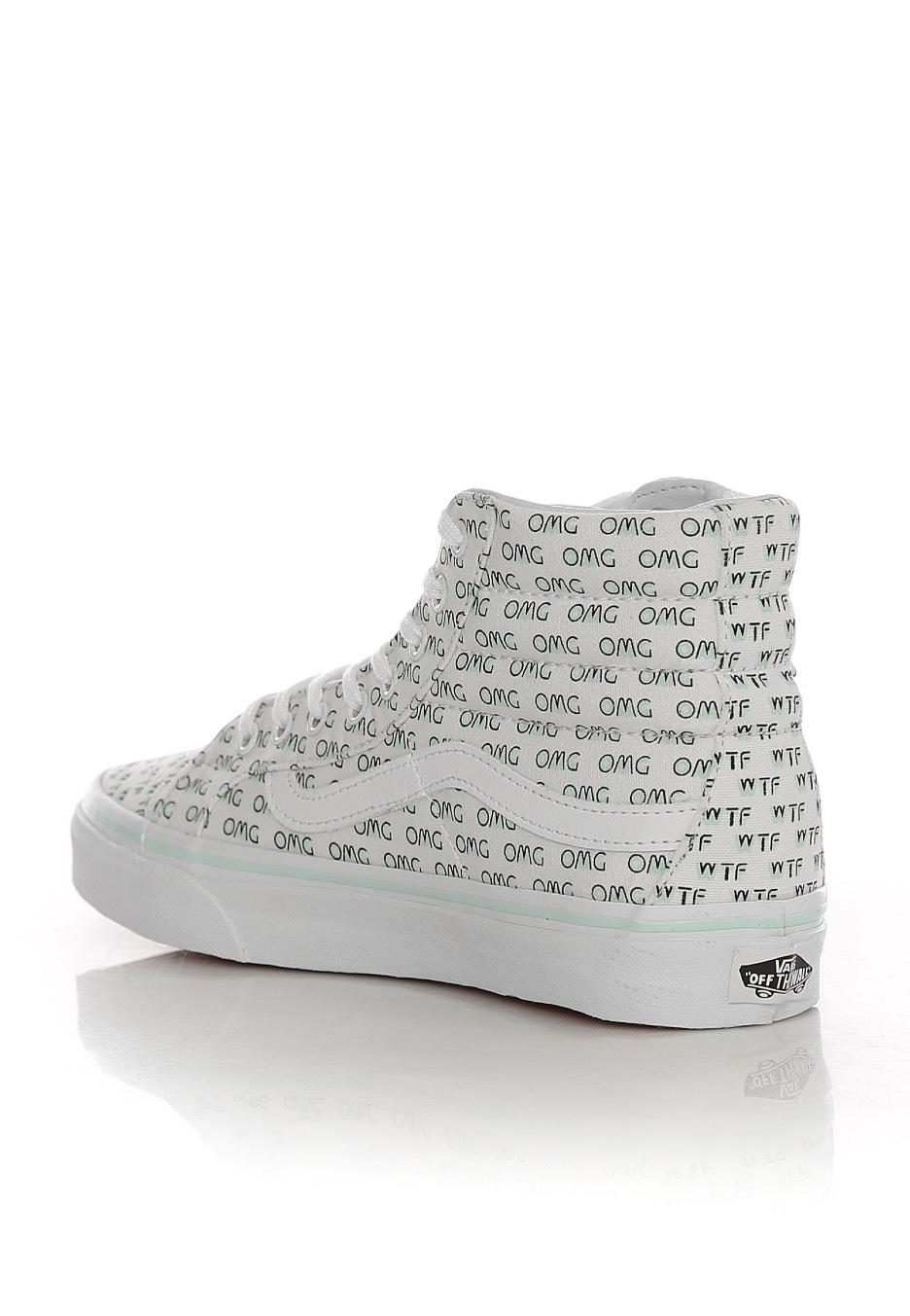 Vans Sk8 Hi Slim Sayings True White Girl Shoes Sneakers