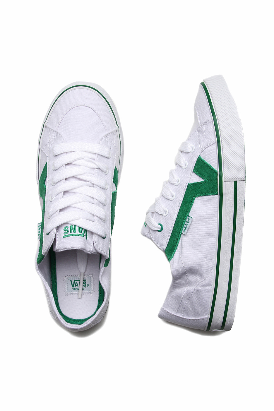 0796a9164536a9 Vans - Tory White Green - Girl Shoes - Impericon.com UK