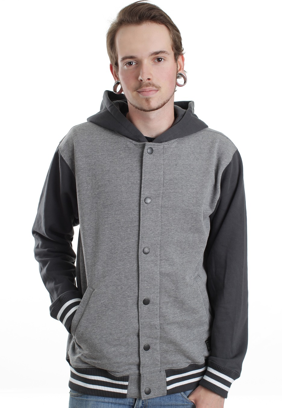 a5de1a2c3a Vans - University Gravel Heather New Charcoal Heather - Hooded College  Jacket - Impericon.com UK