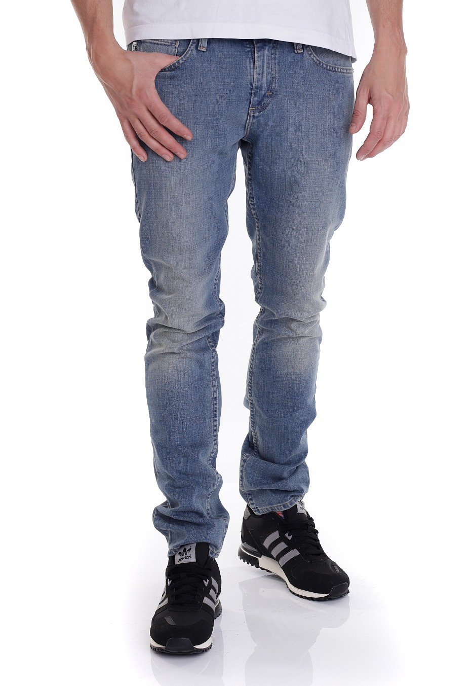 25e112f741c84 Vans - V76 Skinny Vintage Indigo Light - Jeans - Impericon.com Worldwide