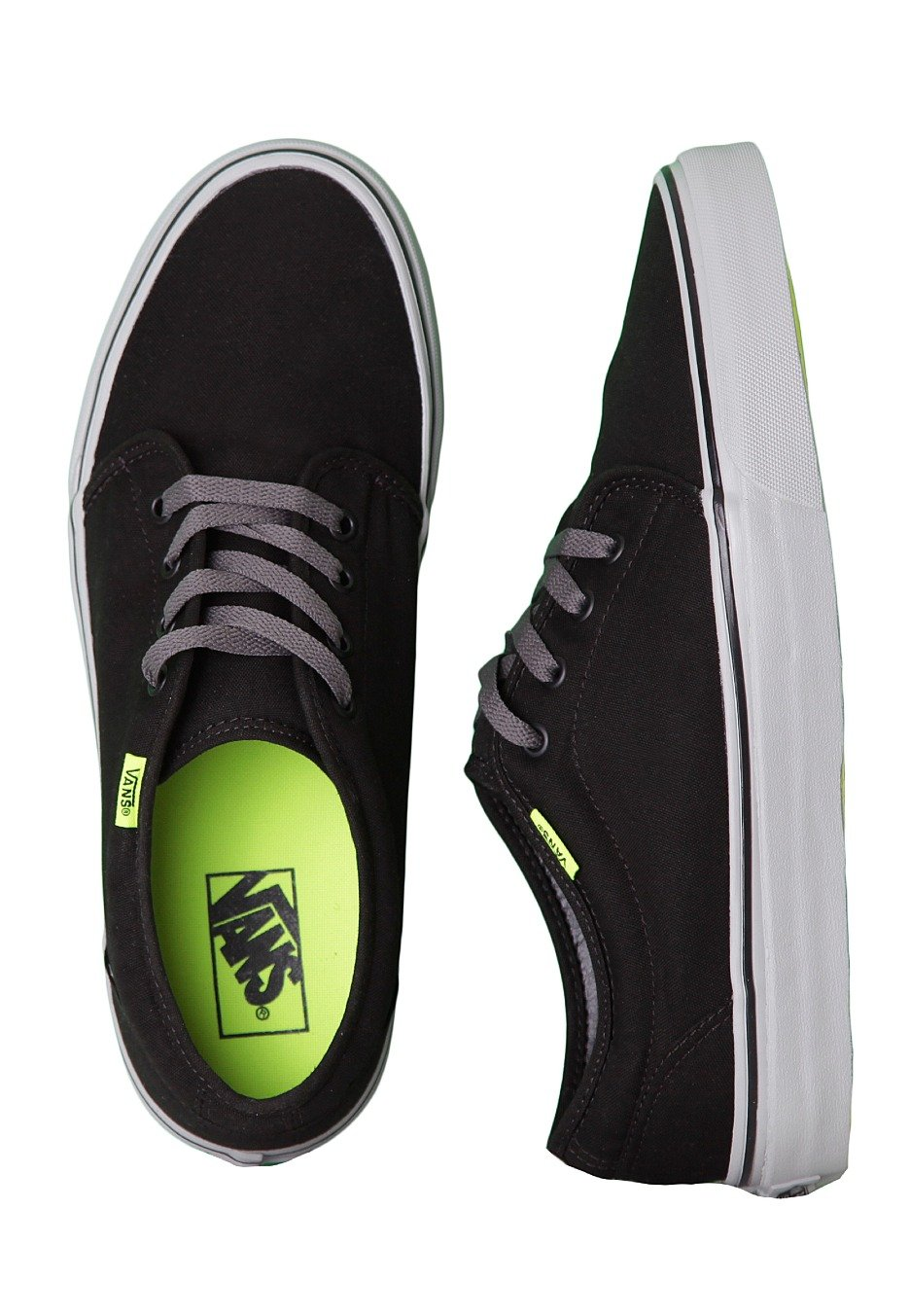 a2089c1dbb Vans - 106 Vulcanized Black Charcoal Neon Yellow - Shoes - Impericon.com  Worldwide