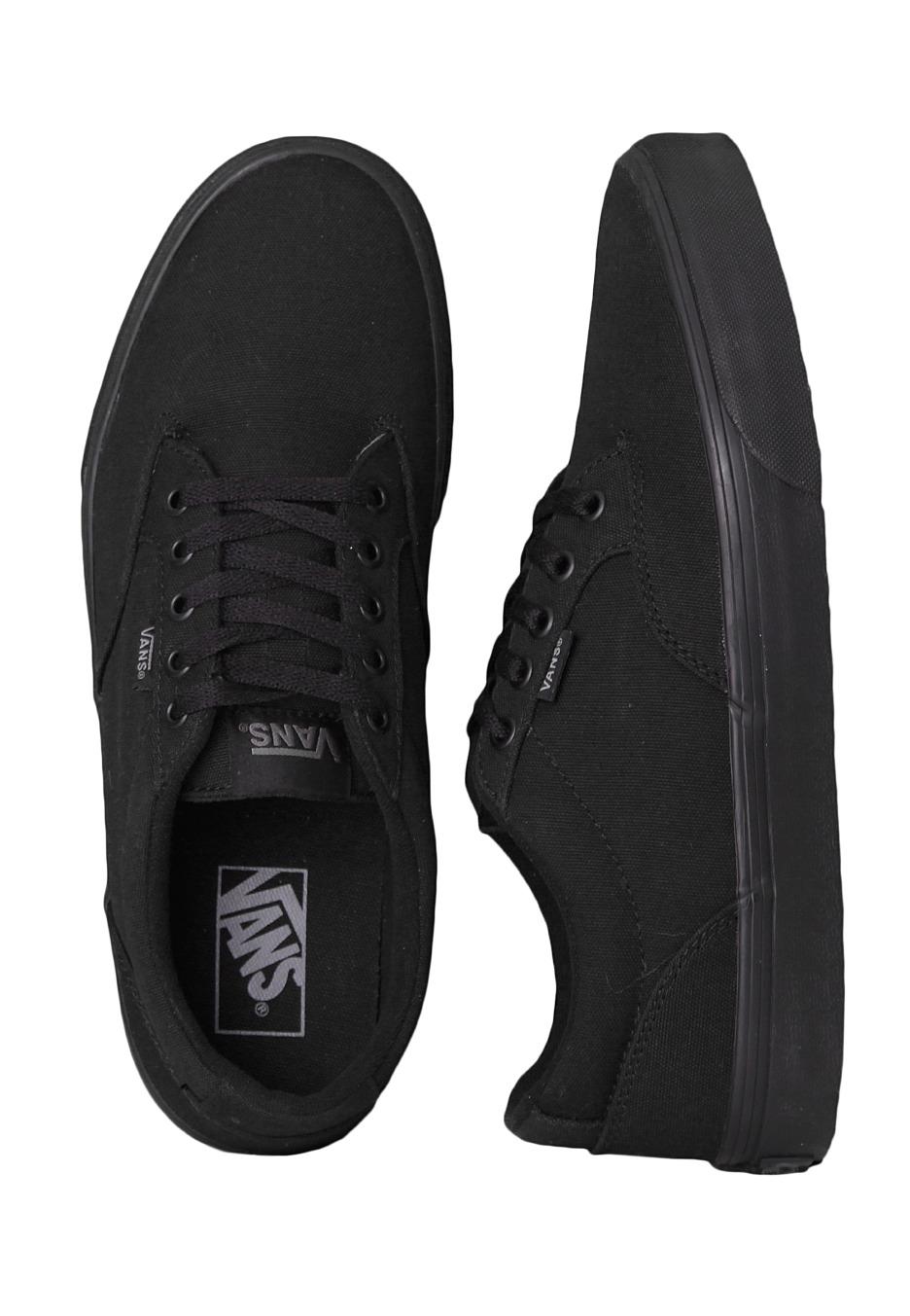 Winston Vans Blackblack Chaussures Winston Canvas Canvas Vans LUzMpqGSV