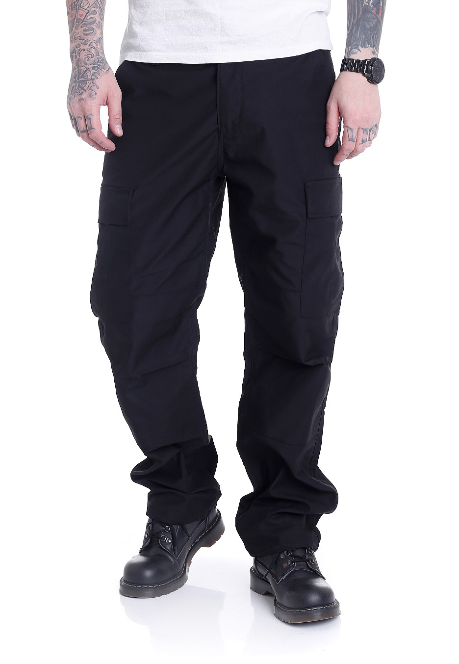 REELL Flex Cargo Black Canvas Pants