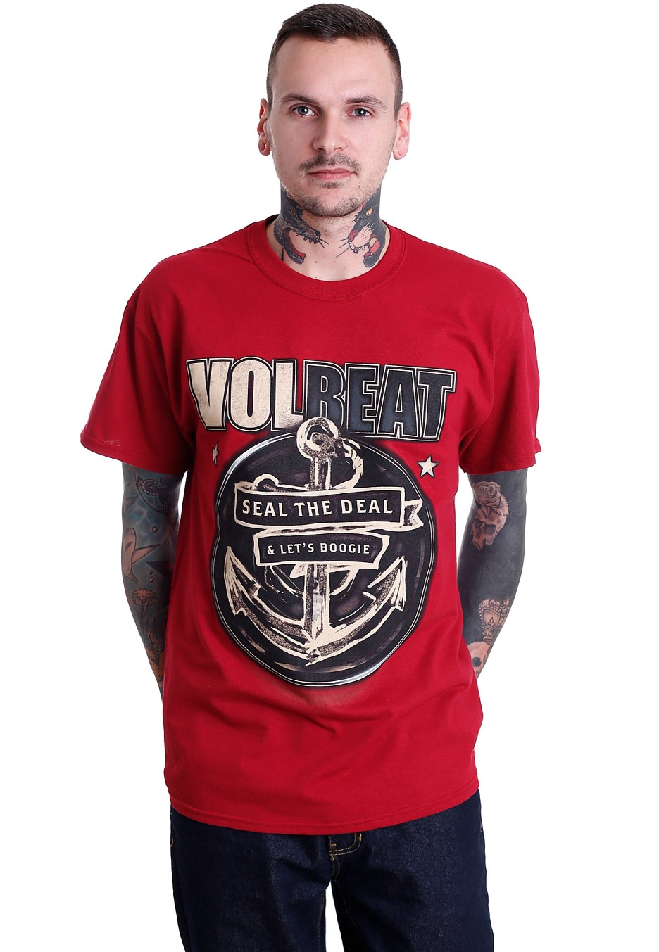 volbeat anchor dark red t shirt official rock. Black Bedroom Furniture Sets. Home Design Ideas