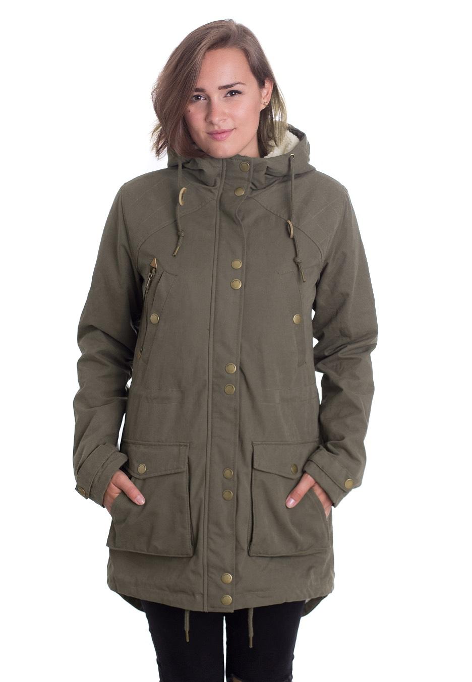 Volcom Walk On By Parka Jacket women (dark camo) buy at