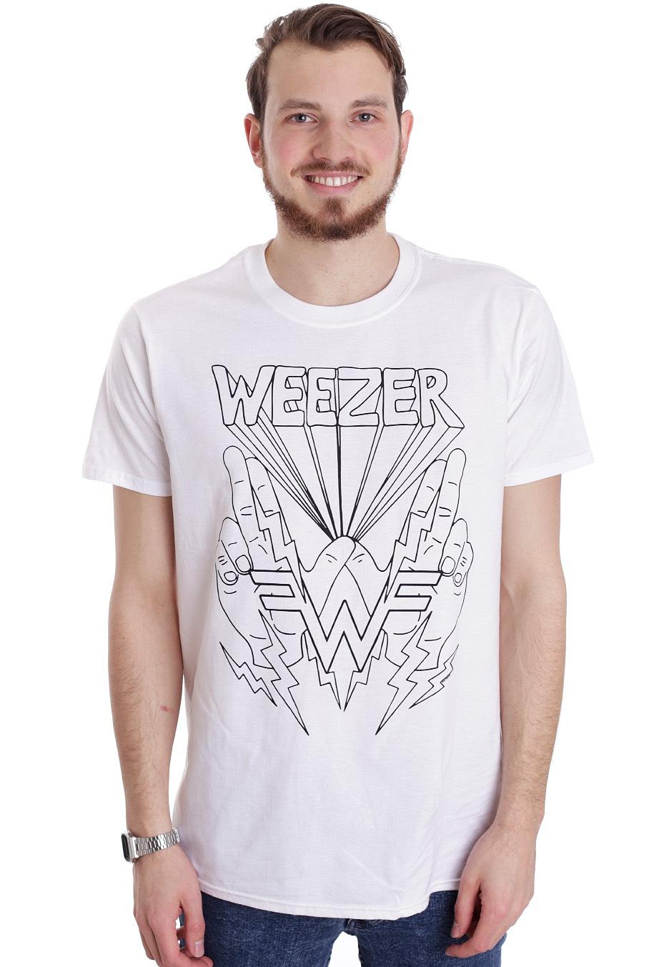 345382ba Weezer - Lightning Hands White - T-Shirt - Official Pop Merchandise ...