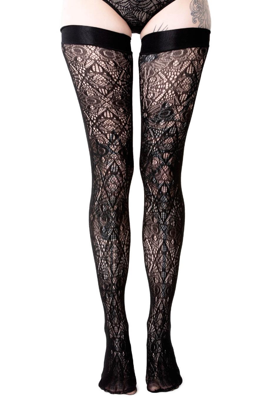 killstar wolfsbane stocking black socks streetwear shop
