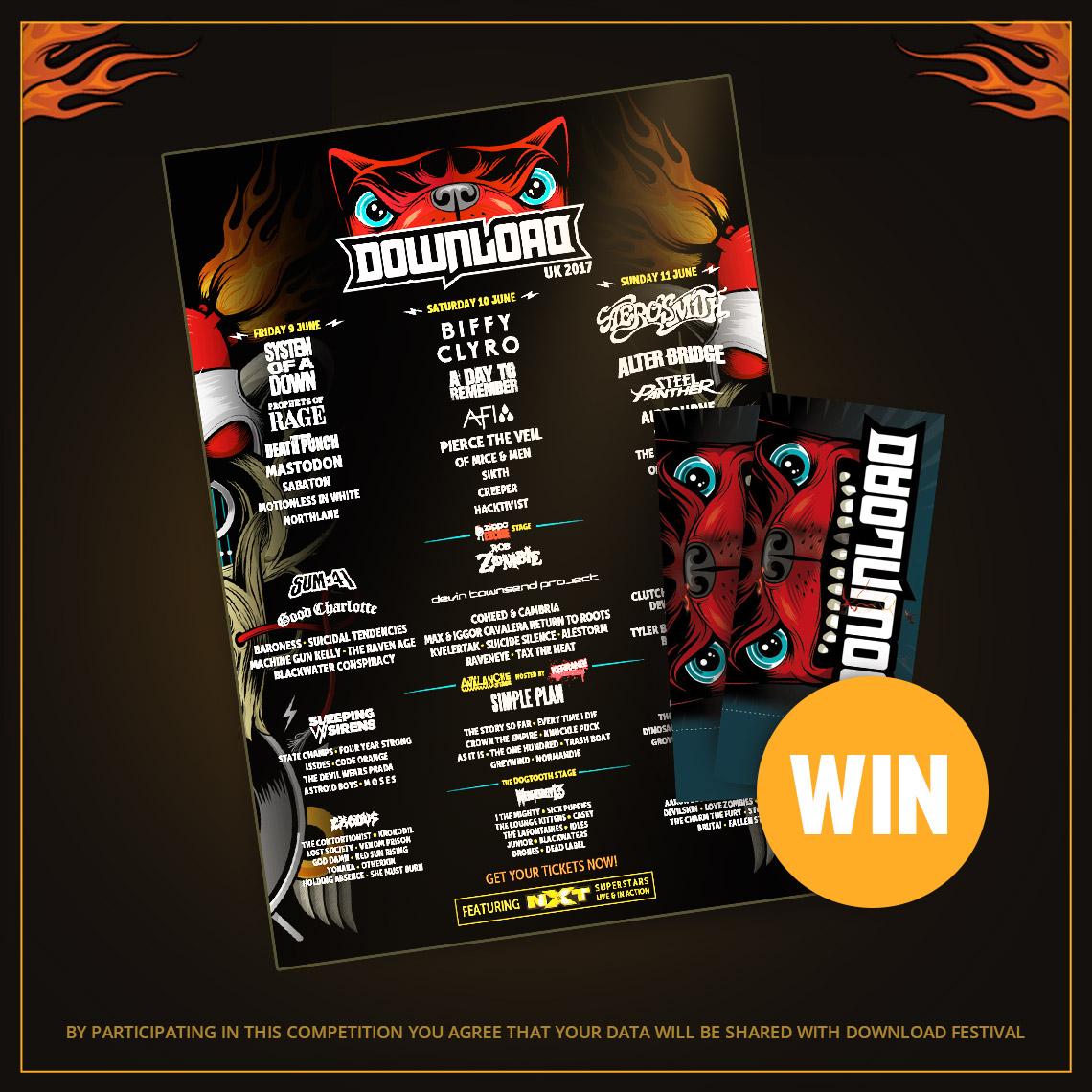 Win 2x Tickets for Download Festival 2017 - Impericon com UK