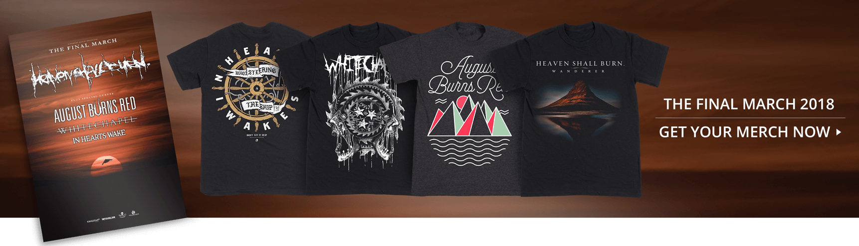 The Final March Tour 2018 - Merch now