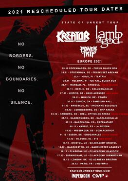 Kreator Tour Tickets